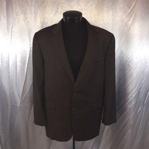 Burberry Plaid two button suit jacket